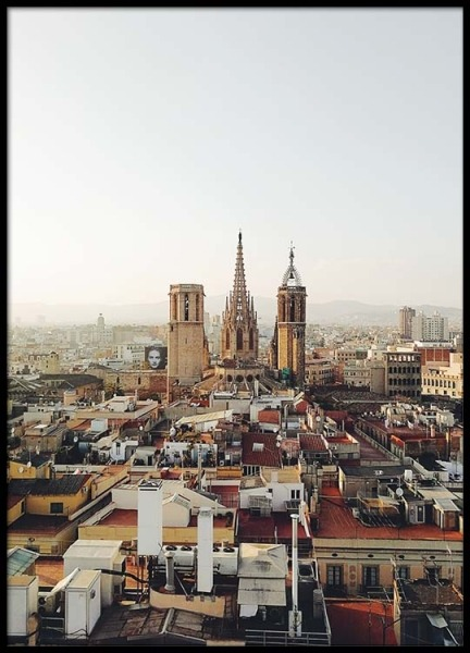 Barcelona Cityscape Poster in the group Prints / Photographs at Desenio AB (2467)