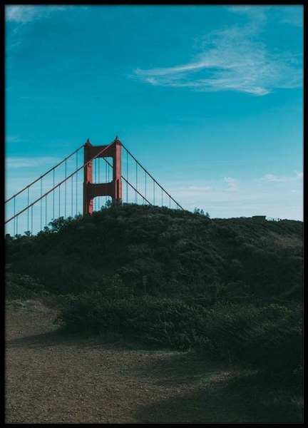 Golden gate Poster in the group Prints / Sizes / 50x70cm | 20x28 at Desenio AB (2468)