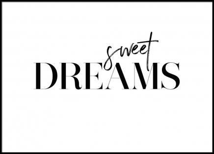 Dreams Poster in the group Prints / Text posters at Desenio AB (2472)