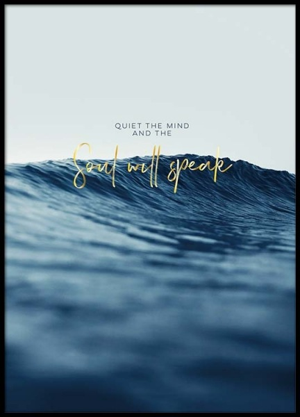 Quiet The Mind Poster in the group Prints / Motivational at Desenio AB (2473)