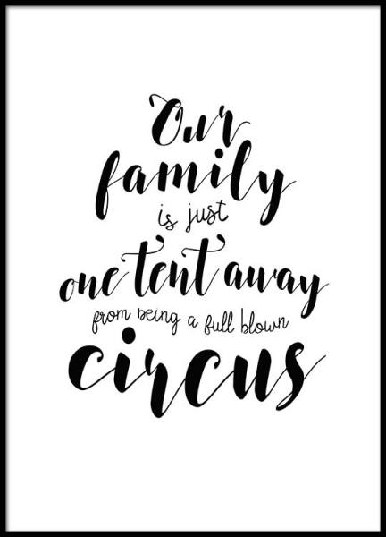 Circus Poster in the group Prints / Typography & quotes at Desenio AB (2484)