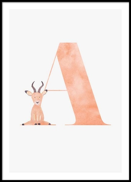 Alphabet A Poster in the group Prints / Sizes /  at Desenio AB (2493)