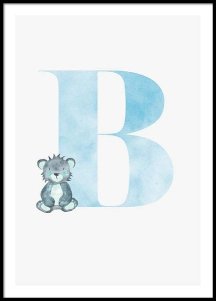 Alphabet B Poster in the group Prints / Kids posters at Desenio AB (2494)