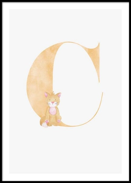 Alphabet C Poster in the group Prints / Kids posters at Desenio AB (2495)
