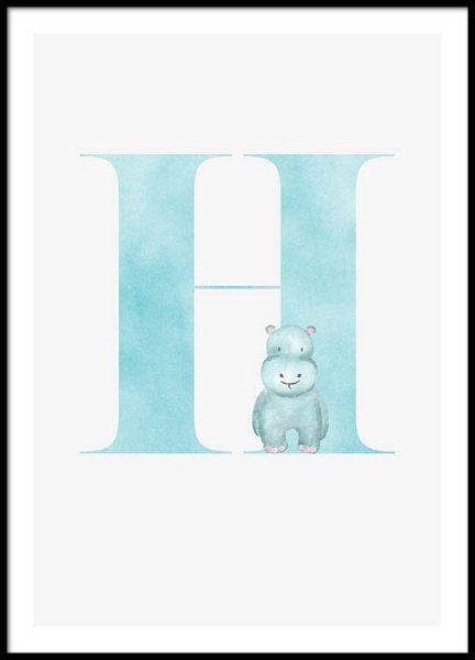 Alphabet H Poster in the group Prints / Sizes / 30x40cm | 12x16 at Desenio AB (2500)