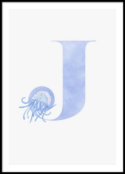 Alphabet J Poster in the group Prints / Kids posters at Desenio AB (2502)