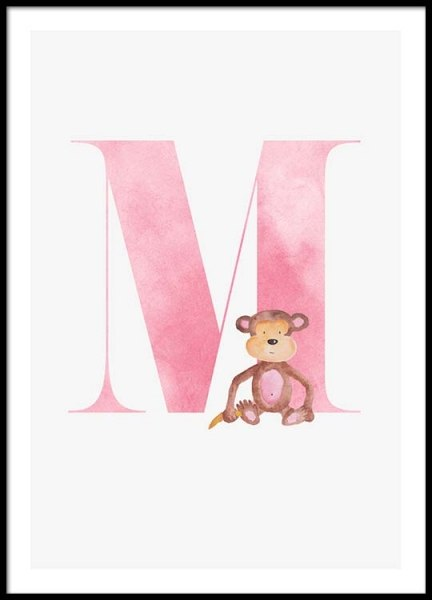 Alphabet M Poster in the group Prints / Kids at Desenio AB (2505)