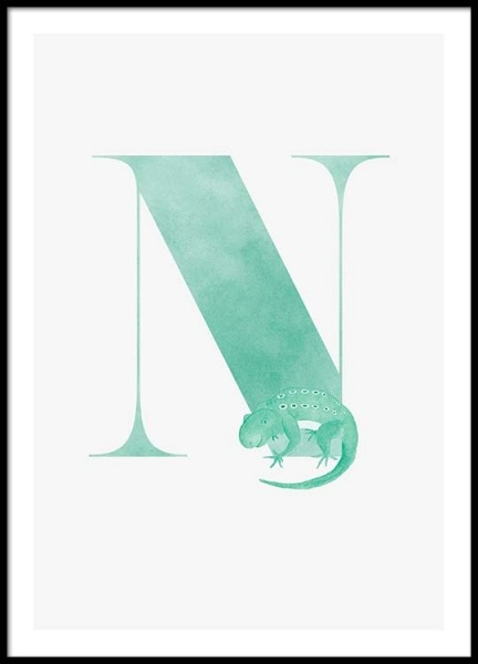 Alphabet N Poster in the group Prints / Kids posters at Desenio AB (2506)