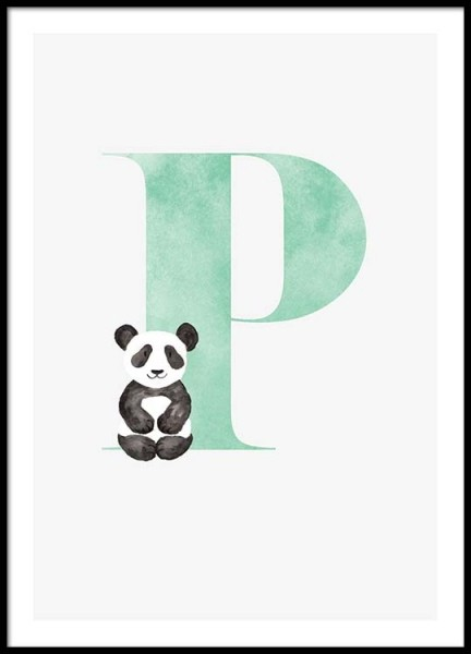 Alphabet P Poster in the group Prints / Kids posters at Desenio AB (2508)