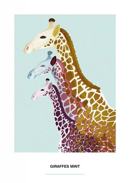 Giraffe Mint Poster in the group Prints / Illustrations at Desenio AB (2525)