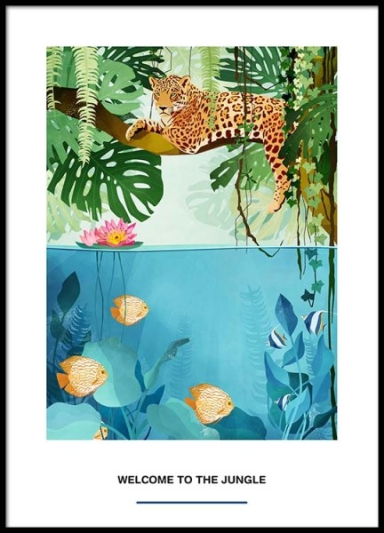 Welcome To The Jungle Poster in the group Prints / Illustrations at Desenio AB (2527)
