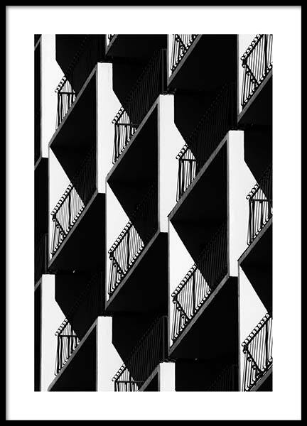 Graphic Balconies Poster in the group Prints / Photographs at Desenio AB (2550)