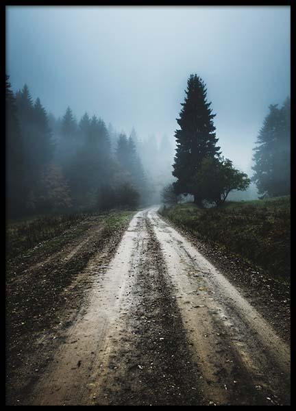 Foggy Road Poster in the group Prints / Nature at Desenio AB (2557)