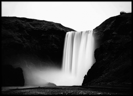 Skógafoss Waterfall Poster in the group Prints / Nature at Desenio AB (2561)