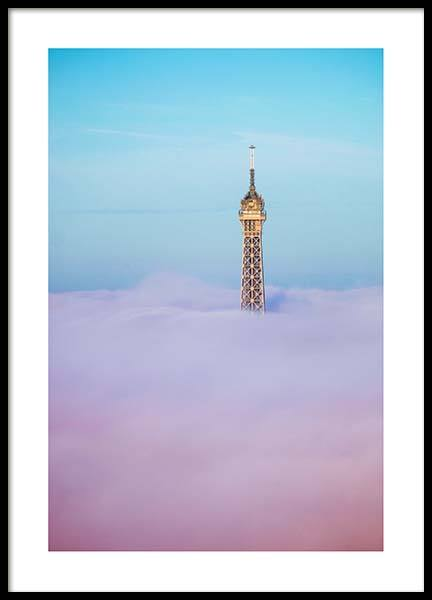 Eiffel Tower Fog Poster in the group Prints / Photographs at Desenio AB (2563)