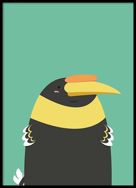 Hornbill Bird Poster in the group Prints / Animals at Desenio AB (2567)
