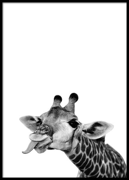 Goofy Giraffe Poster in the group Prints / Kids wall art at Desenio AB (2572)
