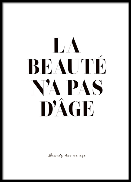 Beauty Has No Age Poster in the group Prints / Typography & quotes at Desenio AB (2598)