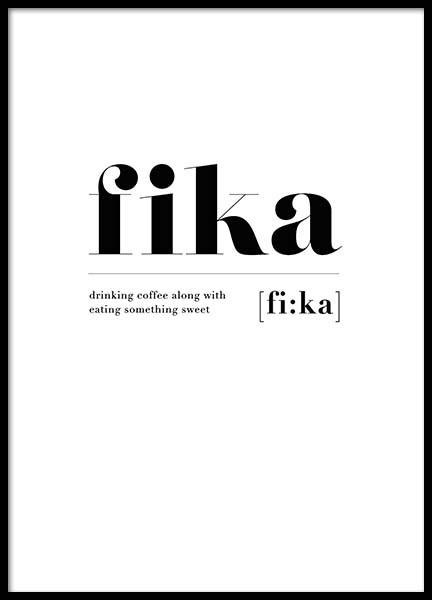 Fi:Ka Poster in the group Prints / Typography & quotes at Desenio AB (2601)
