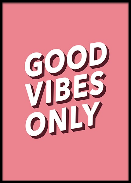 Good vibes no1 Poster in the group Prints / Sizes / 50x70cm | 20x28 at Desenio AB (2612)