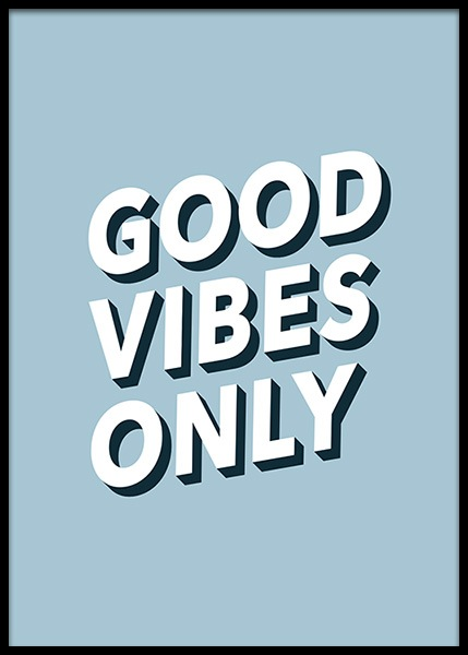 Good Vibes No2 (30x40) in the group Prints / Typography & quotes at Desenio AB (2613-5)