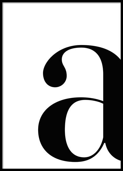Letter A Poster in the group Prints / Typography & quotes at Desenio AB (2614)