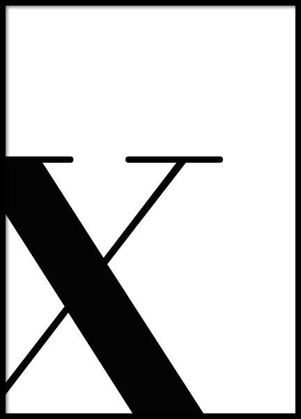 Letter X Poster in the group Prints / Sizes / 50x70cm | 20x28 at Desenio AB (2637)