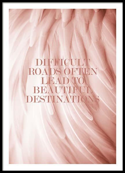 Beautiful Destinations Poster in the group Prints / Typography & quotes at Desenio AB (2650)
