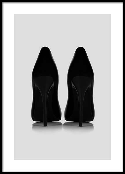 Black Pumps Poster in the group Prints / Black & white at Desenio AB (2663)