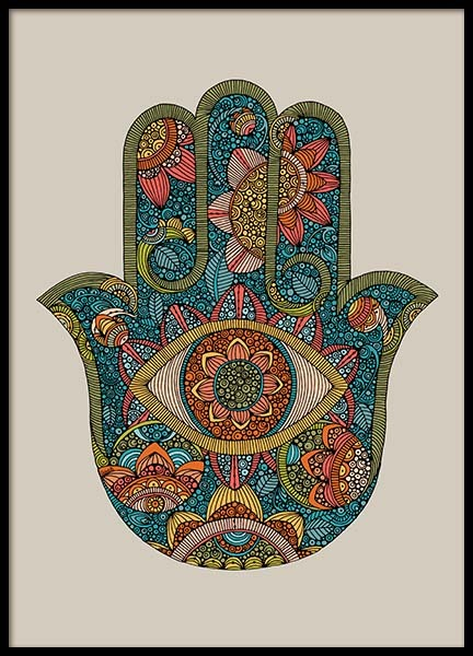 Hamsa Poster in the group Prints / Illustrations at Desenio AB (2683)