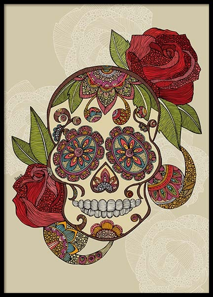 Sugar Skull Poster in the group Prints / Illustrations at Desenio AB (2685)