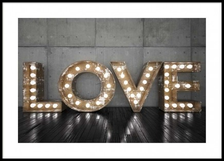 Love Sign Poster in the group Prints / Text posters at Desenio AB (2689)