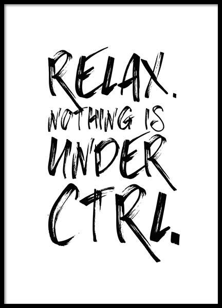Ctrl Poster in the group Prints / Sizes / 30x40cm | 12x16 at Desenio AB (2694)