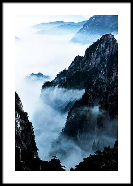 Blue rocky mountains Poster in the group Prints / Sizes / 50x70cm | 20x28 at Desenio AB (2702)