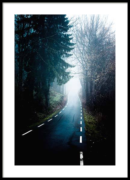 Misty Road Poster in the group Prints / Nature at Desenio AB (2706)