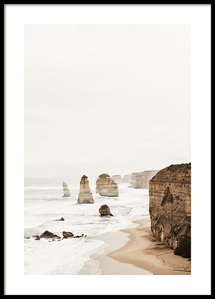 Twelve Apostles Poster in the group Prints / Nature prints at Desenio AB (2708)