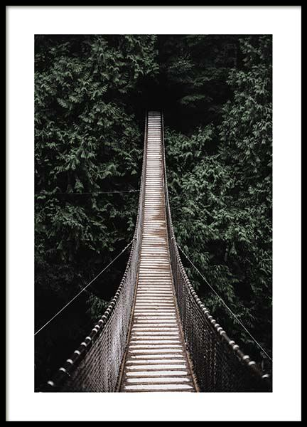 Forest bridge Poster in the group Prints / Sizes / 50x70cm | 20x28 at Desenio AB (2712)