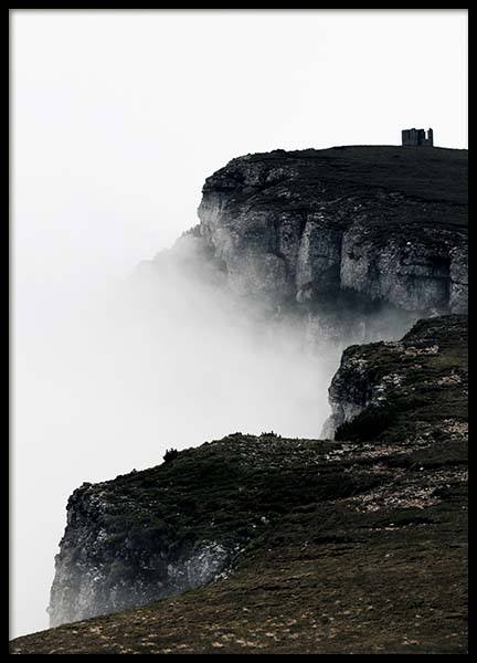 Foggy Cliffs Poster in the group Prints / Nature at Desenio AB (2714)
