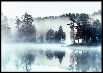 Foggy Lake Poster in the group Prints / Nature prints at Desenio AB (2720)