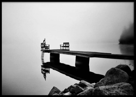Foggy Jetty Poster in the group Prints / Sizes / 50x70cm | 20x28 at Desenio AB (2721)