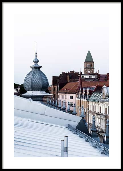 Gothenburg Rooftops Poster in the group Prints / Photographs at Desenio AB (2746)