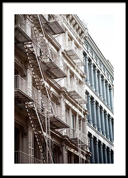 Facade in Soho Poster in the group Prints / Photographs at Desenio AB (2749)