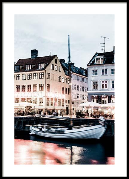Nyhavn Waterfront Poster in the group Prints / Photographs at Desenio AB (2750)