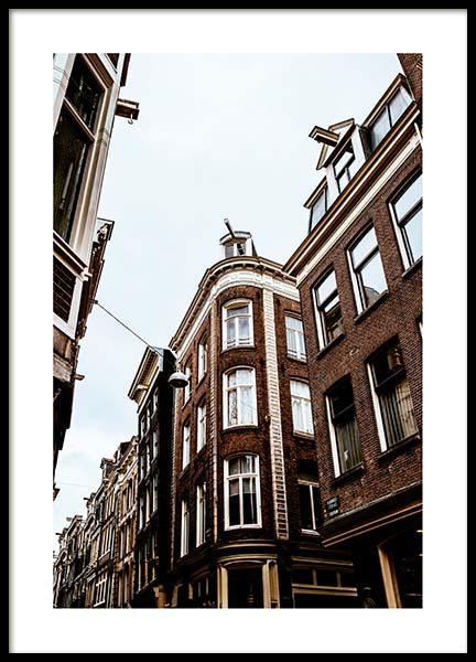 Amsterdam Facades Poster in the group Prints / Photographs at Desenio AB (2754)