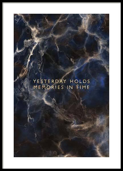 Yesterday Holds Poster in the group Prints / Sizes / 50x70cm | 20x28 at Desenio AB (2757)