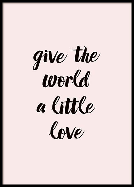 A Little Love Poster in the group Prints / Typography & quotes at Desenio AB (2761)