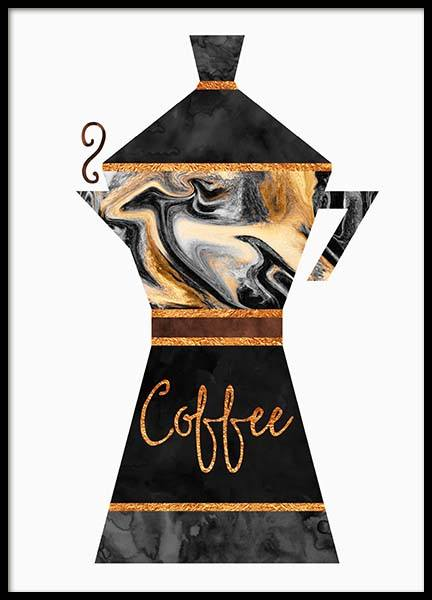 Coffee Pot Poster in the group Prints / Kitchen at Desenio AB (2762)