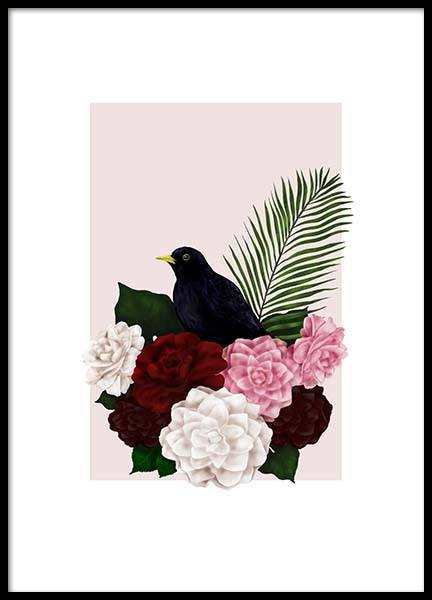 Memories Bird Poster in the group Prints / Sizes / 50x70cm | 20x28 at Desenio AB (2769)