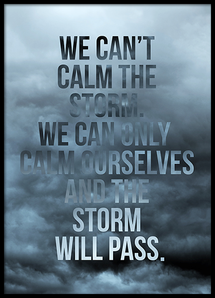 The Storm Will Pass Poster in the group Prints / Typography & quotes at Desenio AB (2781)