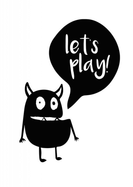 Let's Play Poster in the group Prints / Kids at Desenio AB (2797)